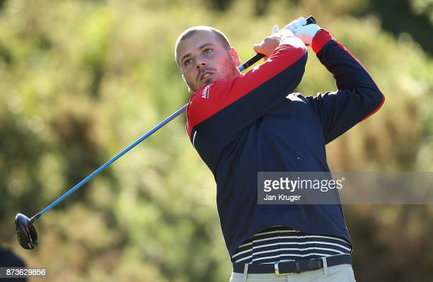 Jacopo Vecchi Fossa of Italy tees off during round three of the European Tour Qualifying School Final Stage at Lumine Golf Club on November 13 2017...