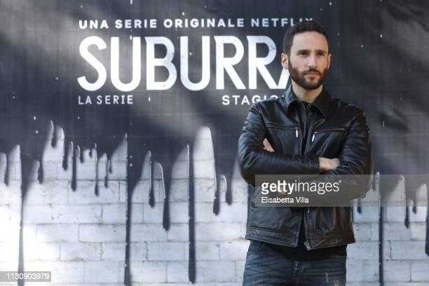 Jacopo Venturiero attends a photocall for Netflix Suburra The Series season 2 at Casa del Cinema on February 20 2019 in Rome Italy