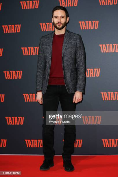 Jacopo Venturiero attends the party for TaTaTu at Studios Ex De Paolis on March 06 2019 in Rome Italy