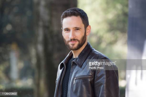 Jacopo Venturiero during the photocall in Rome of the second season of Italian fiction Suburra