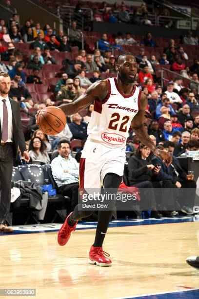 Jacorey Williams of the Canton Charge handles the ball against the Delaware Blue Coats on November 20 2018 at the Wells Fargo Center in Philadelphia...