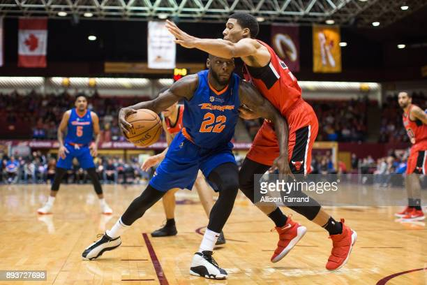 JaCorey Williams of the Canton Charge handles the ball against the Windy City Bulls on December 15 2017 at the Canton Memorial Civic Center in Canton...