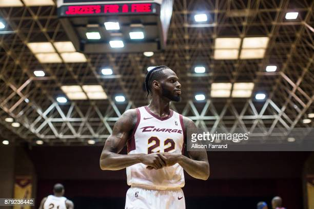 JaCorey Williams of the Canton Charge looks on against the Long Island Nets on November 25 2017 at the Canton Memorial Civic Center in Canton Ohio...