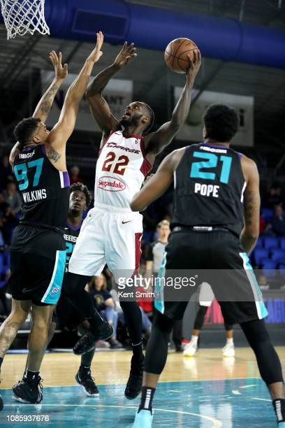 Jacorey Williams of the Canton Charge shoots the ball against the Greensboro Swarm on January 21 2019 at Greensboro Coliseum Fieldhouse in Greensboro...