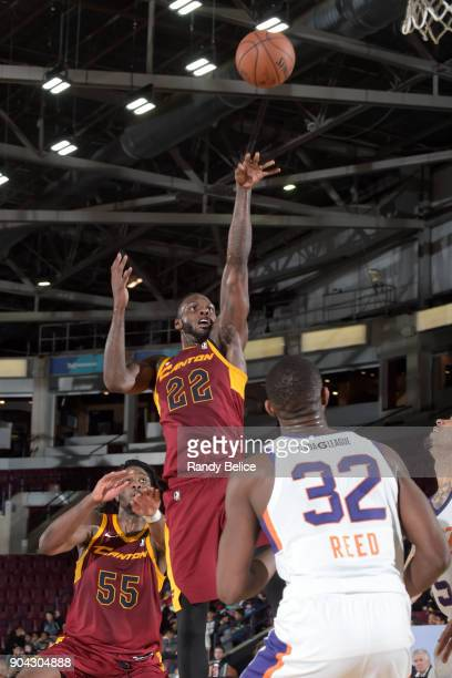 JaCorey Williams of the Canton Charge shoots the ball against the Northern Arizona Suns during the GLeague Showcase on January 12 2018 at the Hershey...