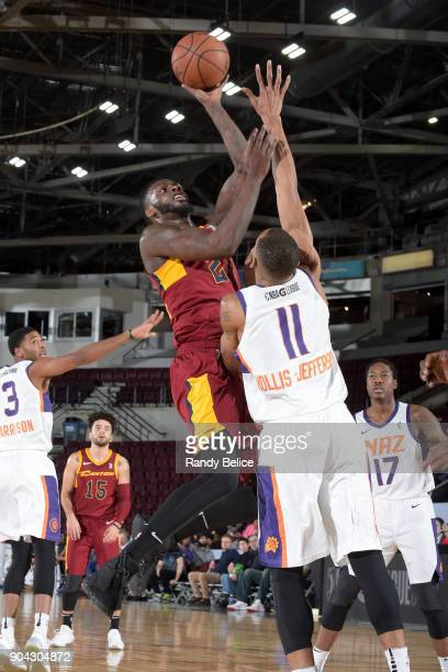 JaCorey Williams of the Canton Charge shoots the ball during the game against the Northern Arizona Suns during the GLeague Showcase on January 12...