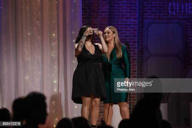Jacqie Campos and Chiquis Rivera attend 32nd Annual Imagen Awards Inside at the Beverly Wilshire Four Seasons Hotel on August 18 2017 in Beverly...