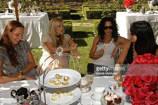 Jacque Getty Pamela Skaist Levy Amanda Demme and Selma Blair attend Pamela Skaist Levy and Gela Nash Taylor host an Afternoon Tea for Christopher...