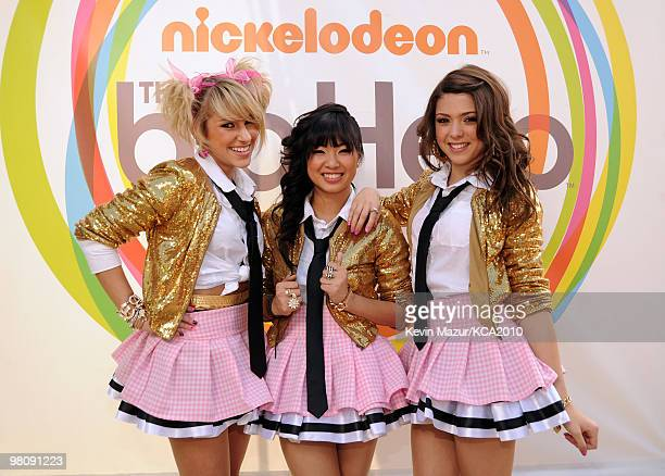 Jacque Nimble Mandy Rain and Mo Money of School Gyrls arrive at Nickelodeon's 23rd Annual Kids' Choice Awards held at UCLA's Pauley Pavilion on March...