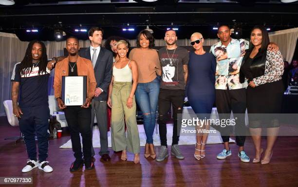Jacquees Chris Grace Shannon Boodram Sibley Karen Civil Don Benjamin Amber Rose Cordell Broadus and Nina Parker attend KYST Know Your Status Aids...
