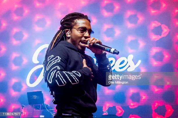 Jacquees performs on stage at o2 Forum Kentish Town on April 10 2019 in London England