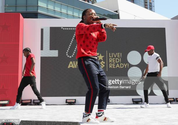 Jacquees perfroms onstage at Live Red Ready PreShow at the 2017 BET Awards at Microsoft Square on June 25 2017 in Los Angeles California