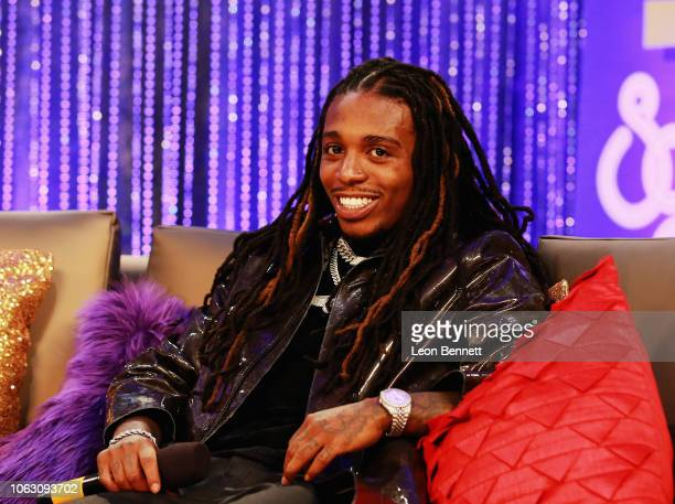 Jacquees speaks during the Post Show for the 2018 Soul Train Awards presented by BET at the Orleans Arena on November 17 2018 in Las Vegas Nevada