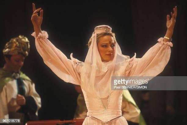 Jacqueline Alexandre au Gala de la Presse le 20 janvier 1984 a Paris, France.