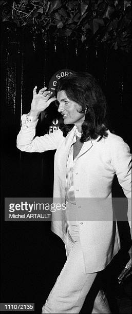 Jacqueline And Aristote Onassis In Paris Jackie Kennedy Onassis In Paris France On October 06 1973