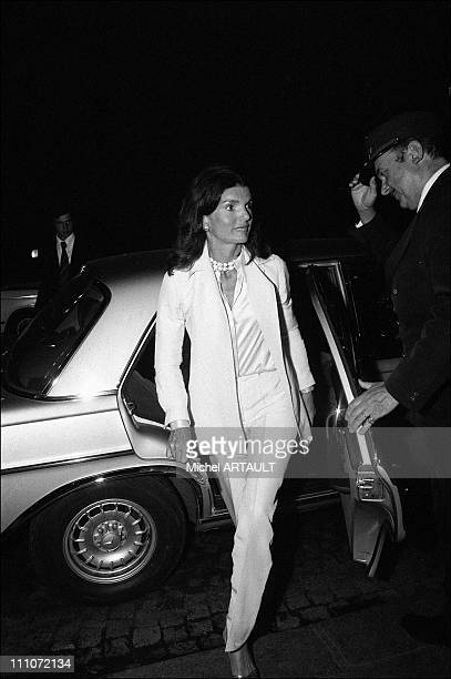 Jacqueline And Aristote Onassis In Paris Jackie Onassis Greeted By Maxim's Doorman In Paris France On October 06 1973