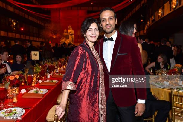 Jacqueline Anteranium and Ari'el Stachel attend The Metropolitan Opera Opening Night Gala SaintSaens' 'Samson et Dalila' at Lincoln Center on...
