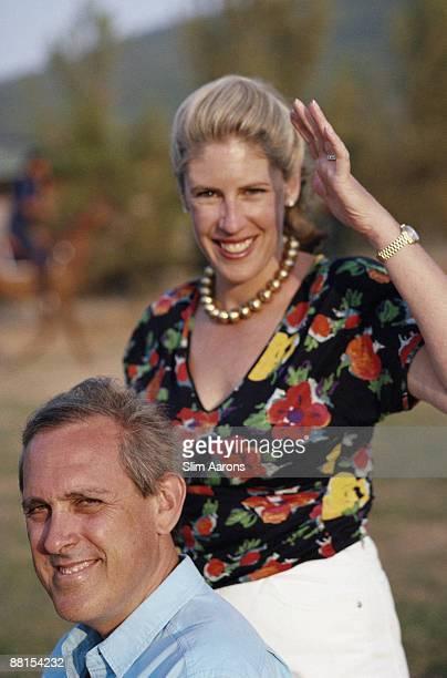 Jacqueline Astor and her husband John R Drexel IV in Tuscany July 1991