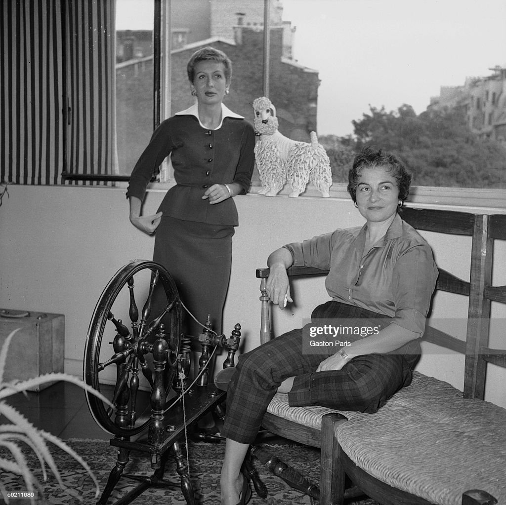 Jacqueline Audry and Gaby Sylvia. France, about 19 : News Photo