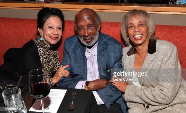 Jacqueline Avant, Clarence Avant and Gail Mitchell attend the Jazz Foundation honors Joni Mitchell And Wayne Shorter at Vibrato on November 10, 2019...