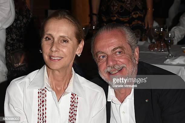Jacqueline Baudit and Aurelio De Laurentiis attends 2015 Ischia Global Film Music Fest Day 4 on July 16 2015 in Ischia Italy