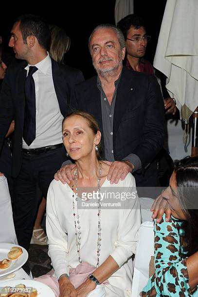 Jacqueline Baudit and Aurelio De Laurentiis attends Day 6 of the Ischia Global Fest 2011 on July 15 2011 in Ischia Italy