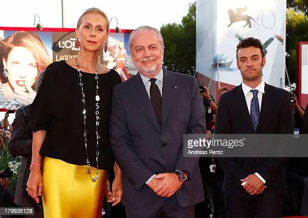 Jacqueline Baudit Aurelio De Laurentiis and Enrico Maria Artale attends the Closing Ceremony during the 70th Venice International Film Festival at...