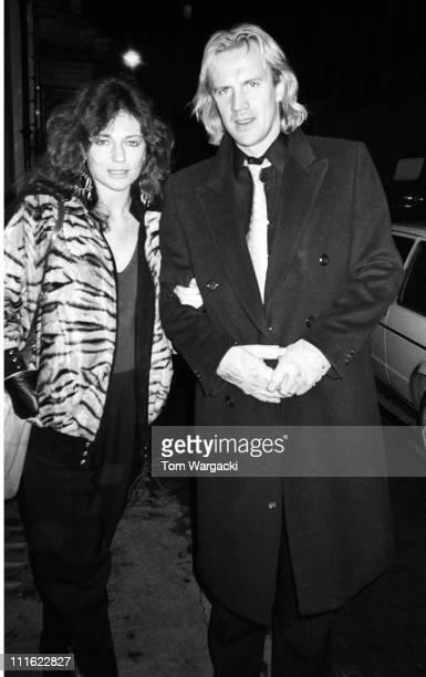 Jacqueline Bisset and Alexander Godunov during Jacqueline Bisset and Alexander Godunov at Langan's Brasserie 1985 at Langan's Brasserie in London...