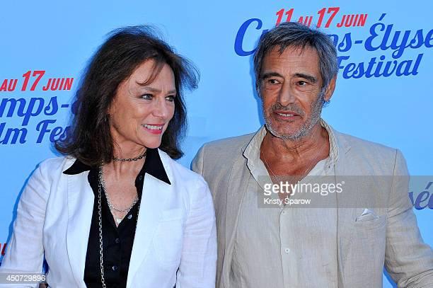 Jacqueline Bisset and Gerard Lanvin attend the Bon Retablissement! Paris Premiere during Day 6 of the Champs Elysees Film Festival on June 16, 2014...