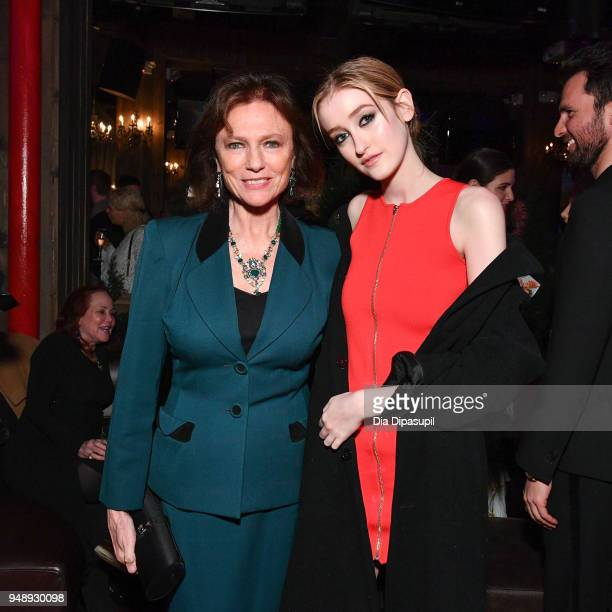 Jacqueline Bisset and Gus Birney attend the 2018 Tribeca Film Festival afterparty for 'Blue Night' hosted by Nespresso at The Ainsworth on April 19...
