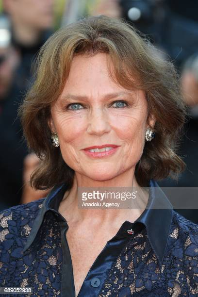 Jacqueline Bisset arrives for the film 'Based on a True Story' out of competition at the 70th annual Cannes Film Festival in Cannes France on May 27...