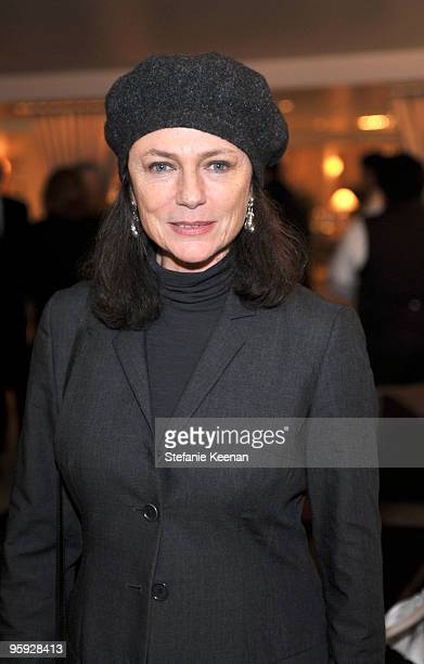 Jacqueline Bisset attends a lunch in honor of Penleope Cruz to celebrate 'Nine' at L'Ermitage on January 21 2010 in Los Angeles California
