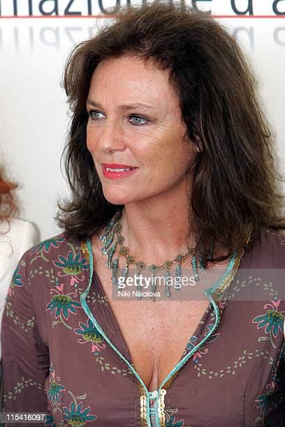 Jacqueline Bisset during 2005 Venice Film Festival 'The Fine Art of Love Mine HaHa' Photocall at Casino Del Lido in Venice Italy