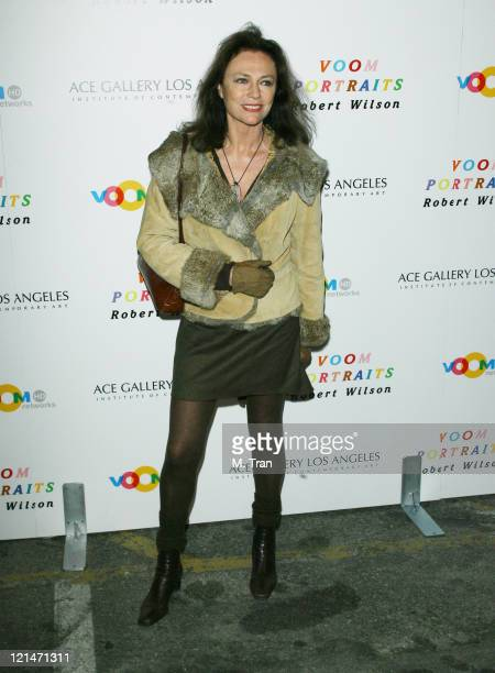Jacqueline Bisset during Robert Wilson Unveils Celebrity HiDef 'VOOM Portraits' at ACE Gallery in Los Angeles California United States