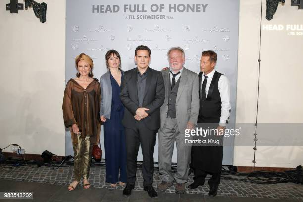 Jacqueline Bisset Emily Mortimer Matt Dillon Nick Nolte and Til Schweiger during the 'Head full of Honey' photo call on June 25 2018 in Berlin Germany