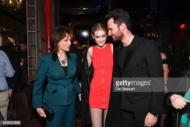 Jacqueline Bisset Gus Birney and Andrea Iervolino attend the 2018 Tribeca Film Festival afterparty for 'Blue Night' hosted by Nespresso at The...
