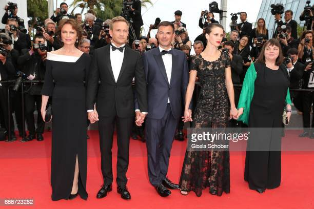 Jacqueline Bisset Jeremie Renier director Francois Ozon Marine Vacth and Myriam Boyer attend the 'Amant Double ' screening during the 70th annual...