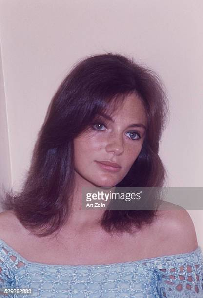 Jacqueline Bisset looking pensive; circa 1970; New York.