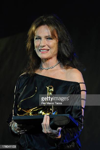 Jacqueline Bisset receives Lifetime Achievement Award Parmigiani during the 66th Locarno Film Festival on August 11 2013 in Locarno Switzerland
