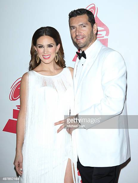 Jacqueline Bracamontes and Martin Fuentes arrive at the 2015 Person of the Year honoring Roberto Carlos held at the Mandalay Bay Events Center on...