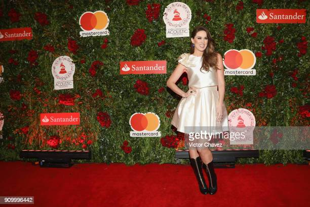 Jacqueline Bracamontes attends the Latin Grammy Acoustic Session Mexico at El Lago restaurant on January 24 2018 in Mexico City Mexico