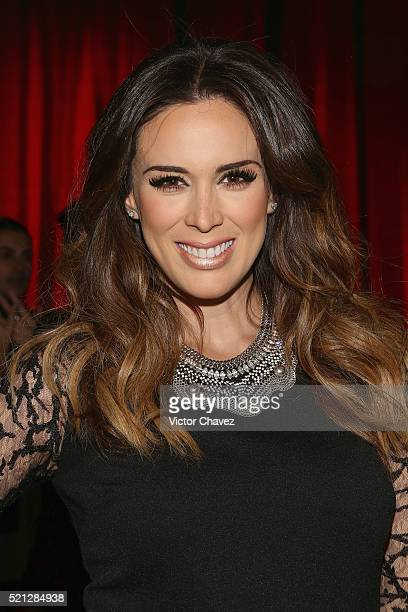 Jacqueline Bracamontes attends the third day of MercedesBenz Fashion Week Mexico Autumn/Winter 2016 at Auditorio BlackBerry on April 13 2016 in...