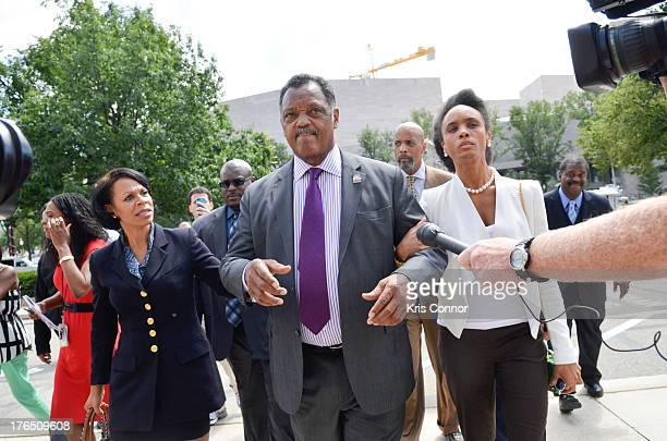 Jacqueline Brown Rev Jesse Jackson and Jacqueline Lavinia walk away from a press conference outside the E Barrett Prettyman United States Court House...