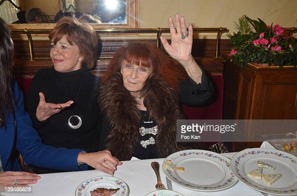 Jacqueline Chabridon and Sonia Rykiel attend the 'Prix De L'Academie Du Mardi Gras 2012' Culinary Awards at the Restaurant Benoit on February 21 2012...