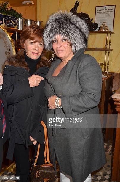 Jacqueline Chabridon and Valerie Solvit attend the 'Prix De L'Academie Du Mardi Gras 2012' Culinary Awards at the Restaurant Benoit on February 21...