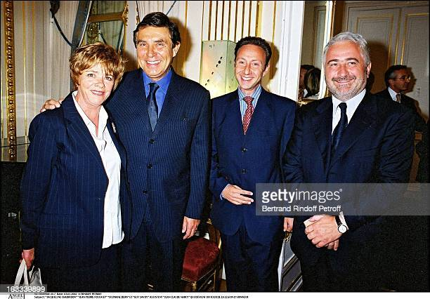 Jacqueline Chabridon Jean Pierre Foucault Stephane Bern and Guy Savoy Jean Claude Narcy becomes officer of the Legion of Honor in 2002
