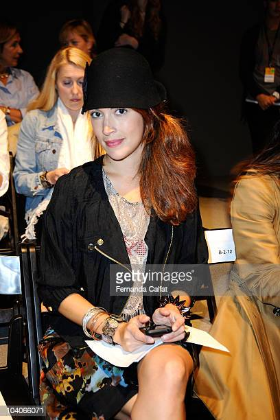Jacqueline Chambers attends the Alexandre Herchcovitch Spring 2011 fashion show during Mercedes-Benz Fashion Week at The Studio at Lincoln Center on...
