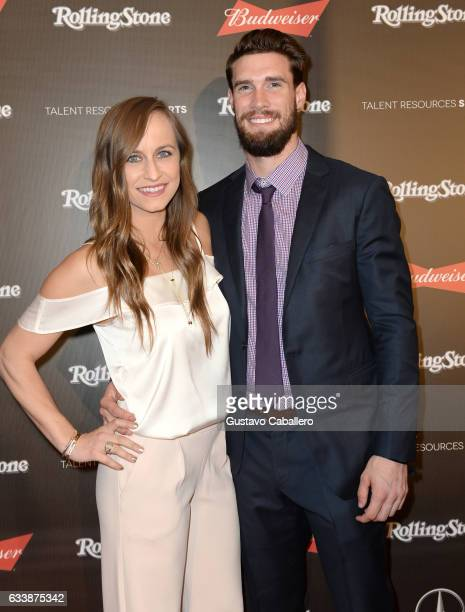 Jacqueline Davis and MLB player David Dahl at the Rolling Stone Live Houston presented by Budweiser and MercedesBenz on February 4 2017 in Houston...