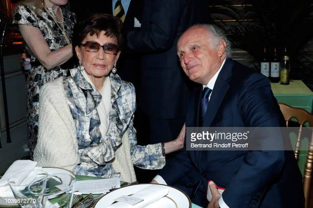 Jacqueline de Ribes and David Nahmad attend Societe des Amis du Musee D'Orsay Dinner at Musee d'Orsay on September 24 2018 in Paris France