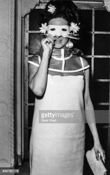 Jacqueline de Ribes at Truman Capote BW Ball on November 28 1966 in New York New York